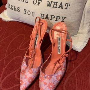 Floral Manolo Blahnik shoes size 39
